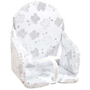 Cuscino da seggiolone per bebè con cinghie